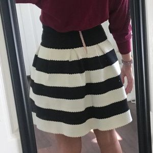 2013df90c4 Anthropologie Skirts - Anthropologie Girls from Savoy black & white skirt